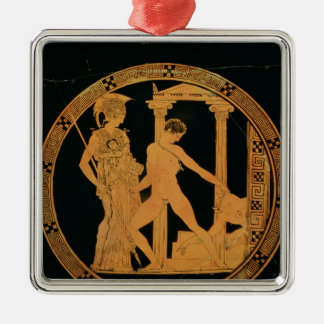 Red-figure cup depicting Athena, Theseus Metal Ornament