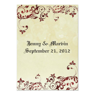 Red Filigree Wedding Invitation