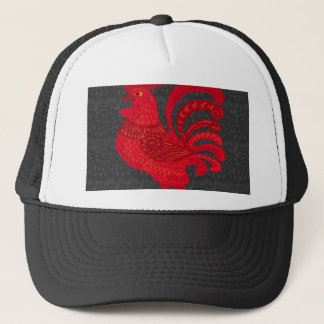 Red Fire Chicken Year Trucker Hat