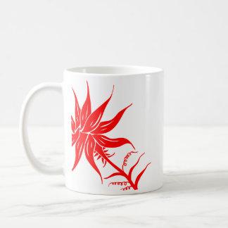 Red Fire Flower Mug