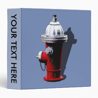 Red Fire Hydrant New York City Binder