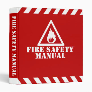 Red Fire Safety Manual Vinyl Binders