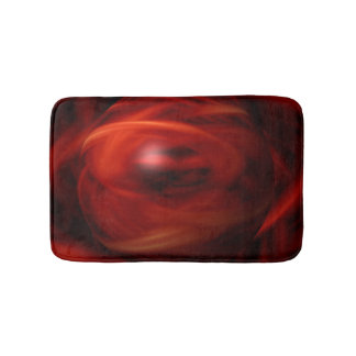 Red Fire Sphere Bath Mat