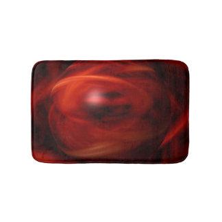 Red Fire Sphere Bathroom Mat