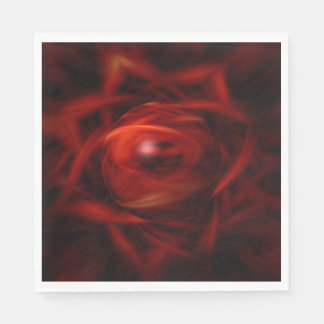 Red Fire Sphere Disposable Napkins