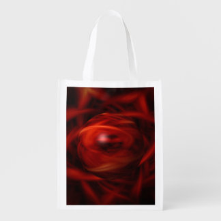 Red Fire Sphere Grocery Bags