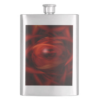 Red Fire Sphere Hip Flask