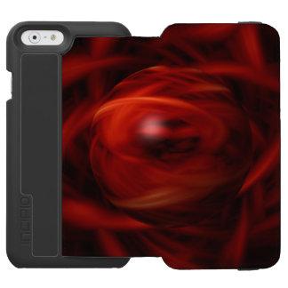 Red Fire Sphere Incipio Watson™ iPhone 6 Wallet Case