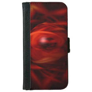 Red Fire Sphere iPhone 6 Wallet Case