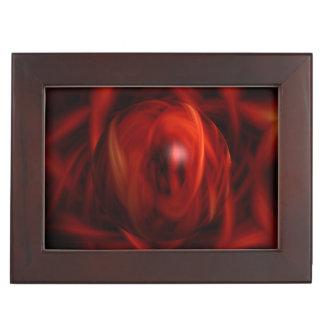 Red Fire Sphere Keepsake Box