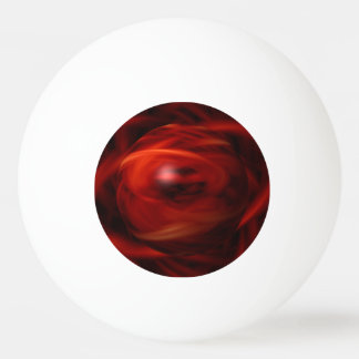 Red Fire Sphere Ping Pong Ball