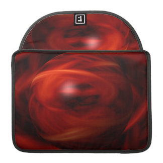 Red Fire Sphere Sleeve For MacBook Pro