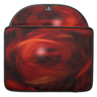 Red Fire Sphere Sleeve For MacBooks