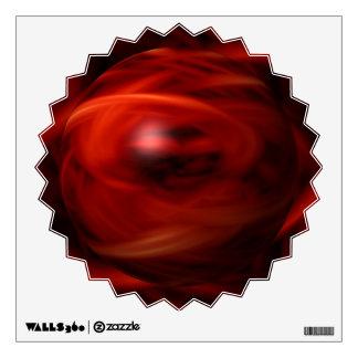 Red Fire Sphere Wall Sticker