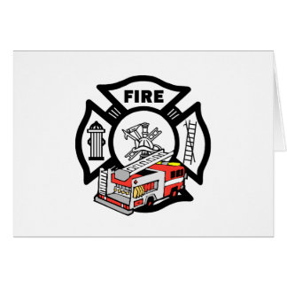 Red Fire Truck Greeting Cards