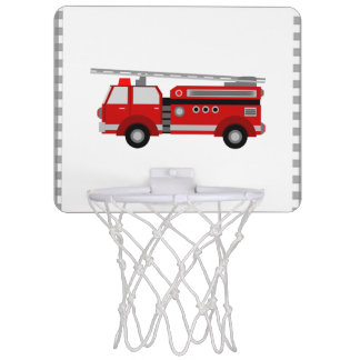Red fire truck mini basketball hoop