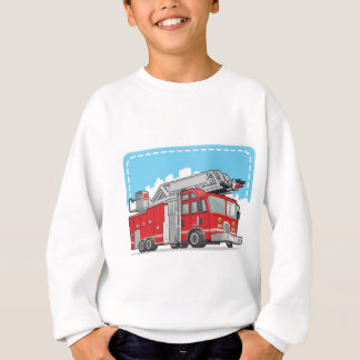 Red Fire Truck or Fire Engine Sweatshirt
