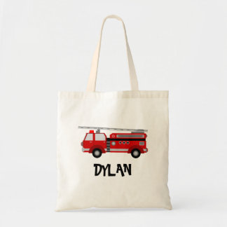 Red Fire Truck Personalised Tote Bag