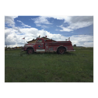 Red Fire Truck Photo Print
