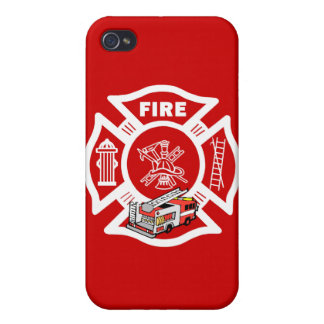 Red Fire Truck Rescue iPhone 4 Case
