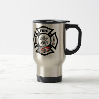 Red Fire Truck Rescue Travel Mug