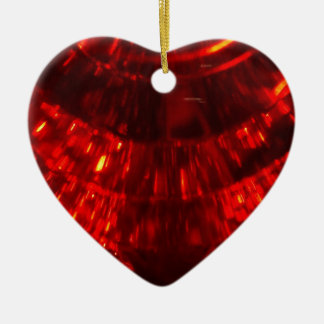 RED FIREBALL CERAMIC HEART ORNAMENT