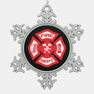 Red Firefighter Christmas Ornament