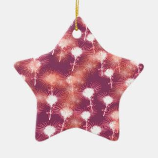 Red Fireworks Ceramic Star Ornament