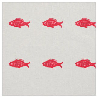 Red fish fabric