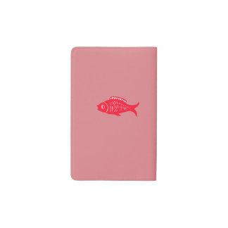 Red fish pocket moleskine notebook