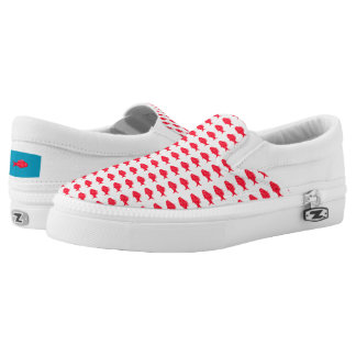 Red fish Slip-On sneakers