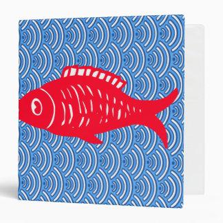 Red fish vinyl binder