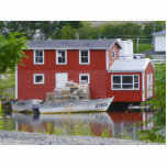 Red Fishing Stage in Salvage Photo Cut Outs
