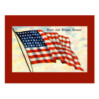 Red Flag Independence Day Postcard