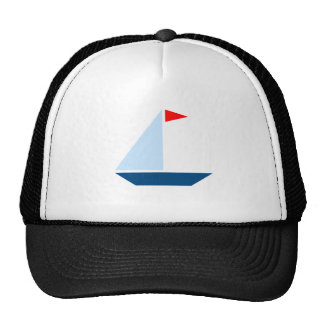 Red Flag Sail Boat Trucker Hat