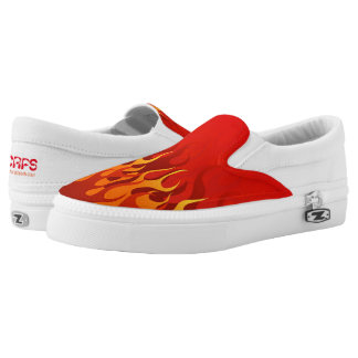 Red Flame Slip on Shoes