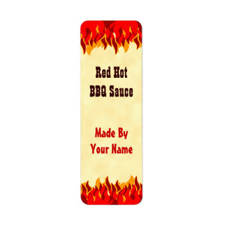 Hot sauce labels address return address labels for Bbq sauce label template