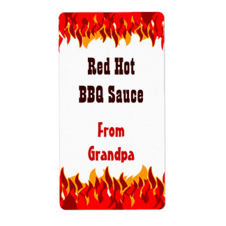 Hot sauce labels hot sauce address labels return address for Bbq sauce label template