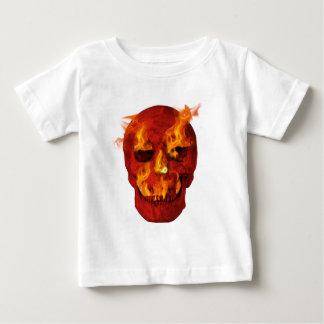 Red Flaming Skull Baby T-Shirt
