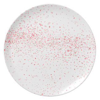 Red Fleck Plates