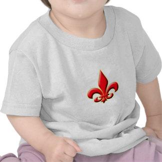 Red Fleur De Leis T-shirt