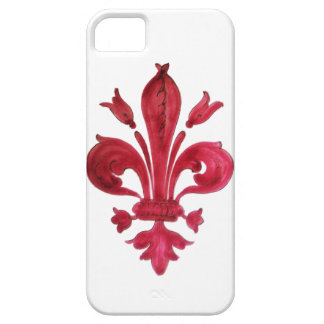RED FLEUR DE LISE iPhone 5 CASES