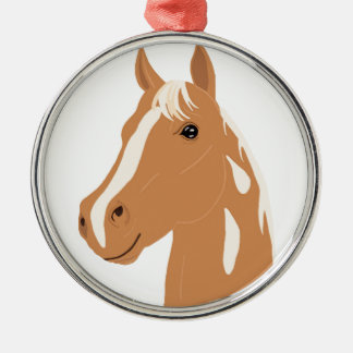 Red Flight the Happy Horse Metal Ornament