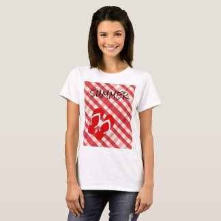Red Flip Flop Summer T-Shirt