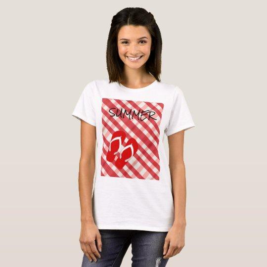 Red Flip Flop Summer T-Shirt