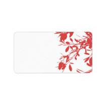 Red Floral labels