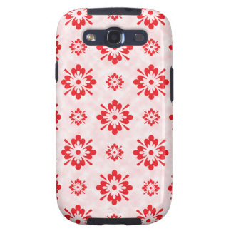 Red floral art pattern galaxy SIII case