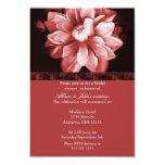 Red Floral Bloom Bridal Shower Invitation