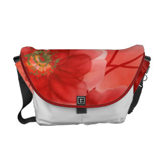 Red Floral Blush Courier Bag