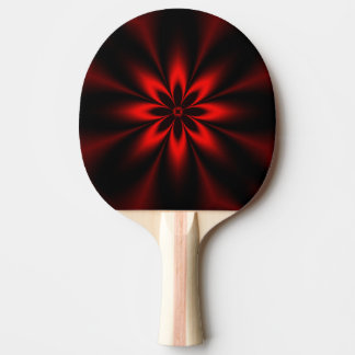 Red Floral Burst Ping Pong Paddle